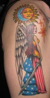 american angel girl tattoo