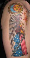 american angel girl tattoo
