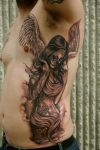 angel tats design for man