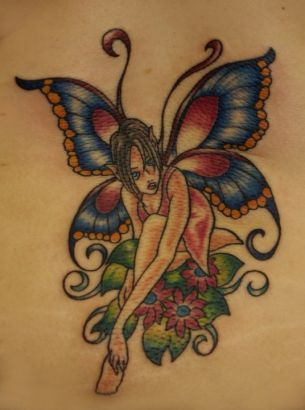 butterfly fairy tattoos pics tattoo from itattooz. Black Bedroom Furniture Sets. Home Design Ideas