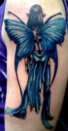 blue fairy tattoos design