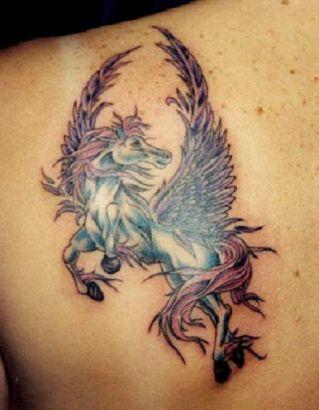 Unicorn Tattoo On Left Shoulder Blade Tattoo From Itattooz