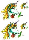 unicorn with rose tattoo