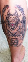 vampire tattoo on calf