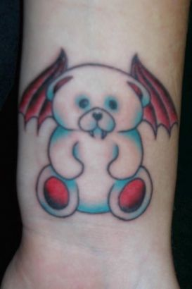 Little Angel Bear Tattoo