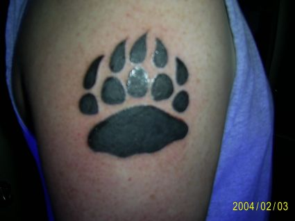 Bear Paw Tattoo On Arm