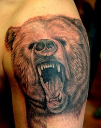 Bear Pic Tattoo