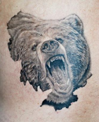 Bear Head Tattoo Image