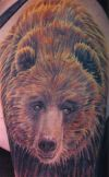 bear tattoo on arm