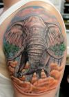 elephant shoulder tattoo