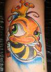 bee pic tattoo design