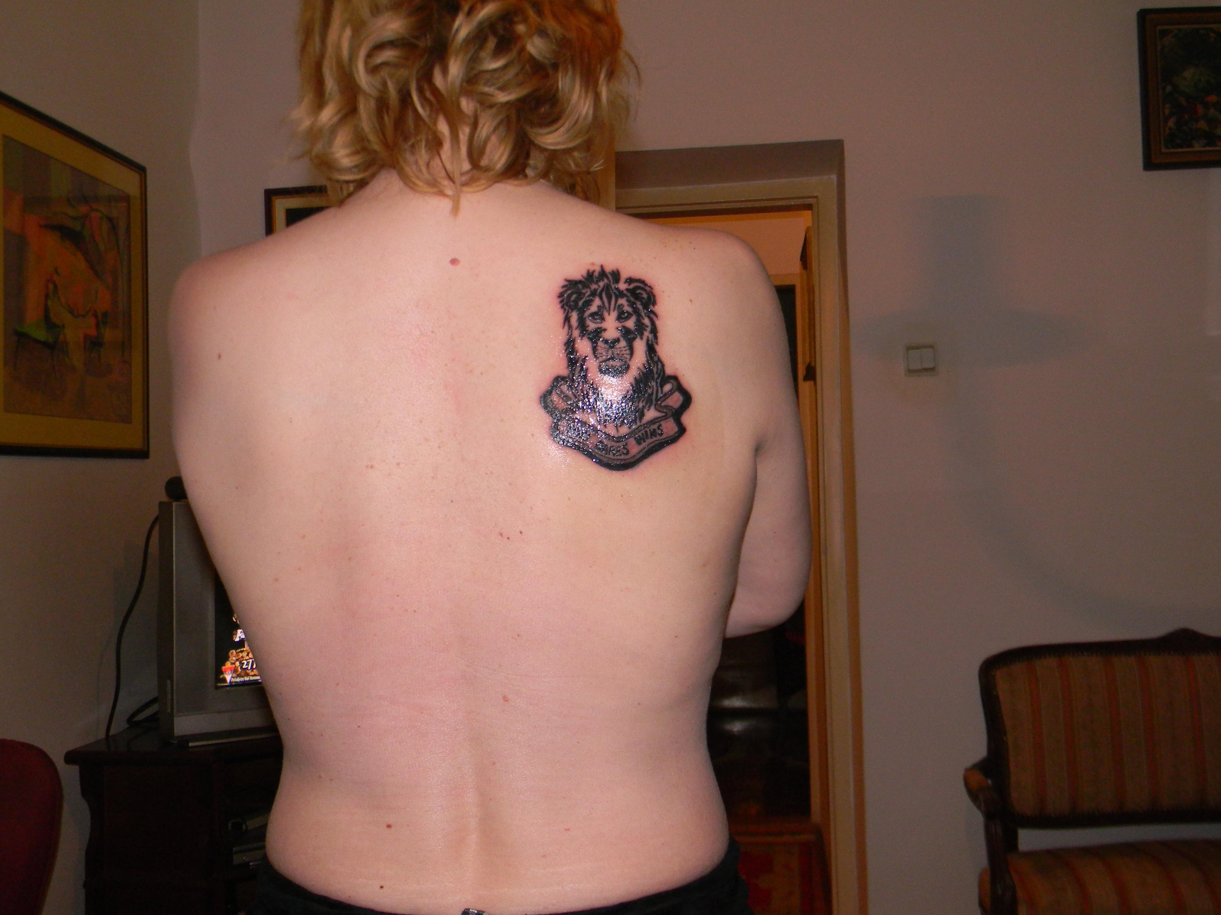Lion Tattoo For Girl S Back