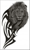 free lion head tribal tattoo