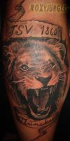 lion head pic of tattoo