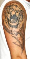 lion head pics tattoo on arm