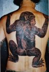 3d monkey back tattoo