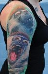 monkey tattoos on half sleeve