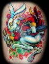 cartoon rabbit tattoo