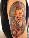 rabbit tattoo on arm