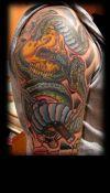 skull snake tattoo