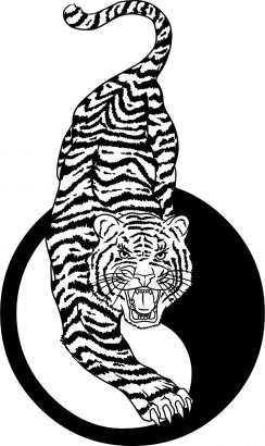Tiger And Yin Yang Tattoo