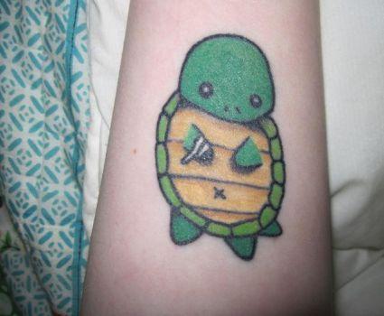 Cartoon turtle tattoo tattoo from itattooz for Little turtle tattoo