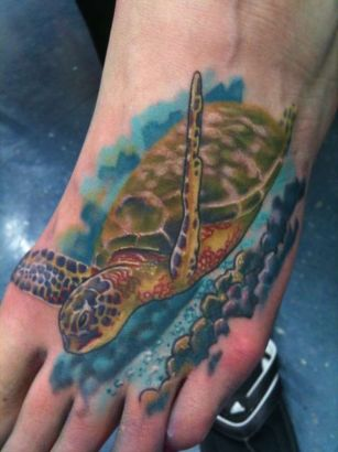 sea turtle tattoo pic tattoo from itattooz. Black Bedroom Furniture Sets. Home Design Ideas