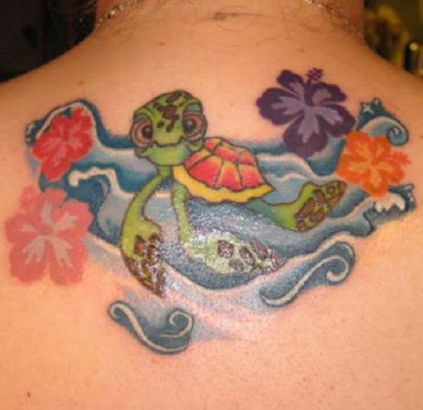 little turtle and hibiscus tattoo tattoo from itattooz. Black Bedroom Furniture Sets. Home Design Ideas
