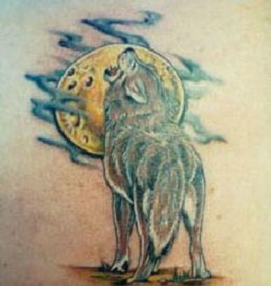 Wolf And Sun Tattoo