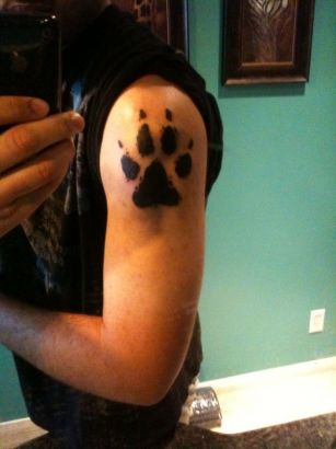 Wolf Paw Tattoo On Arm
