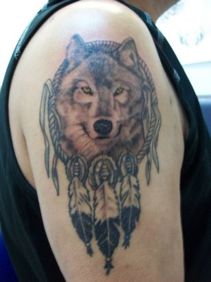 Wolf Portrait Tattoo