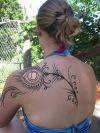 peacock feather hinna tattoo