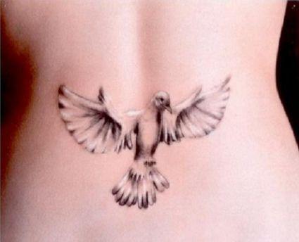 3d dove pic tattoo on back tattoo from itattooz. Black Bedroom Furniture Sets. Home Design Ideas