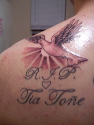 Dove Tat Image On Shoulder