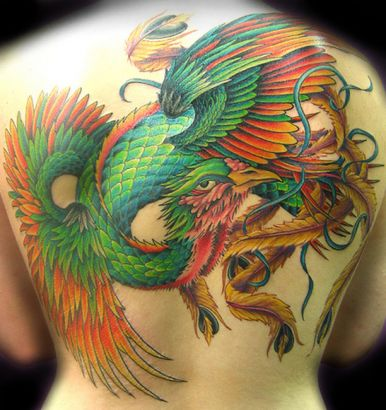 Phoenix tattoo image on back tattoo from itattooz for Phoenix tattoo on back