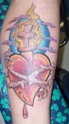 heart and dagger tat