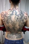 angel tattoo pics on back