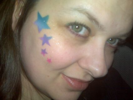A girl with star tattoo on face tattoo from itattooz for Girl with star tattoos on face