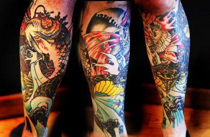 koi fish tats on leg tattoo from itattooz. Black Bedroom Furniture Sets. Home Design Ideas