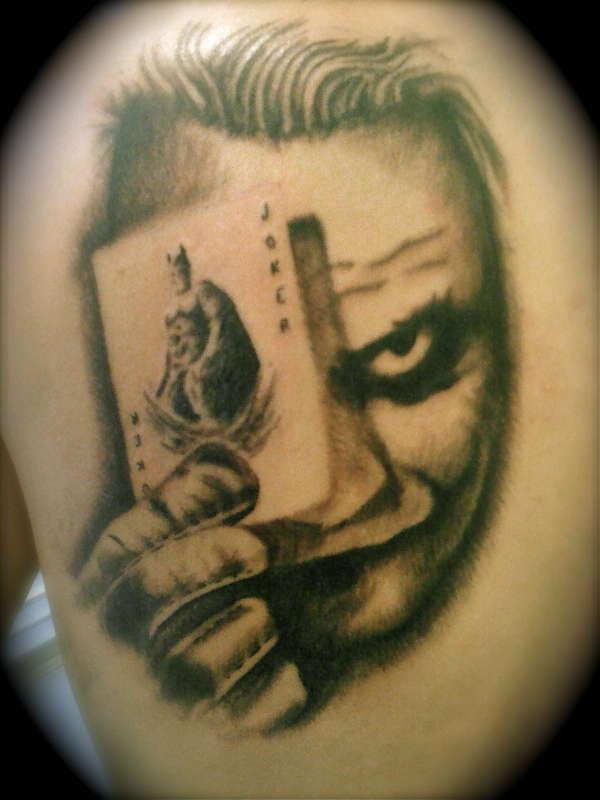 Tattoo Design Of Joker Face