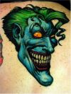 joker face pic tattoo