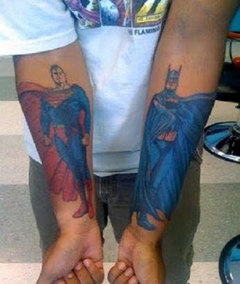 Batman And Superman Tattoo