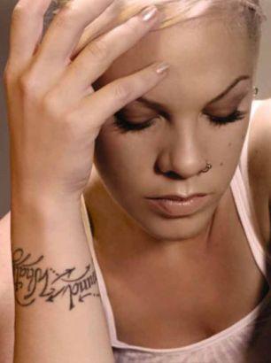 Pink Right Hand Tattoo