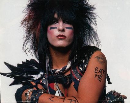 nikki sixx text and bat tattoos