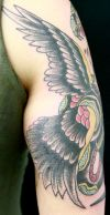 american eagle tats on arm