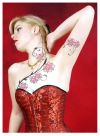 japanese  flower vine tattoo
