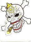 mexican skull and cross bone tattoo