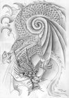chinese dragon pic of tattoo