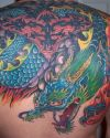 colored chinese dragon pic tattoo