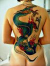 a sexy girl with chinese dragon